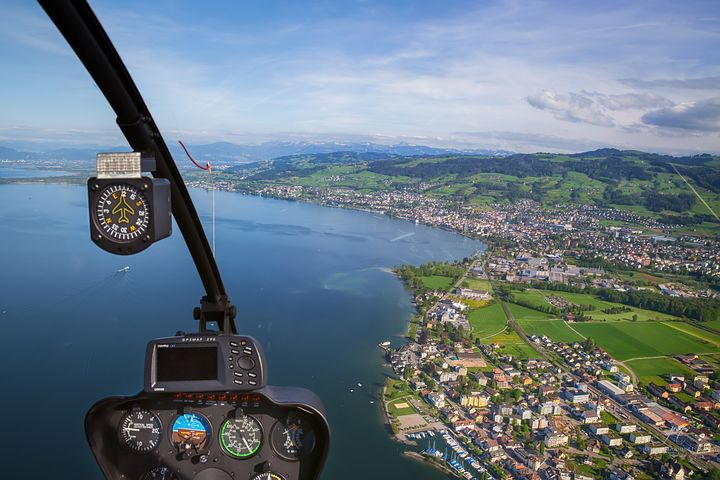 helicopter ride view