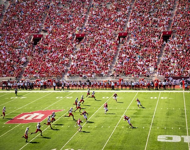 football field during a game