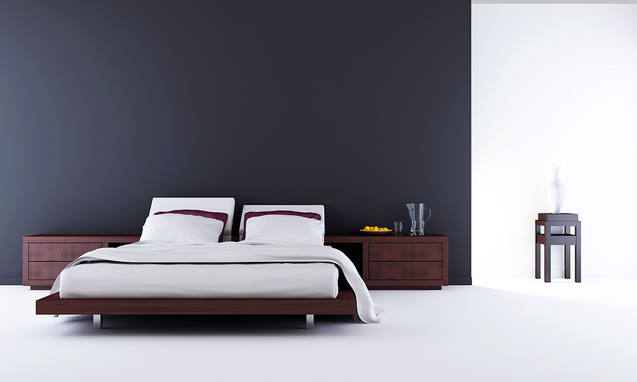 Modern bed room with fold up wall beds