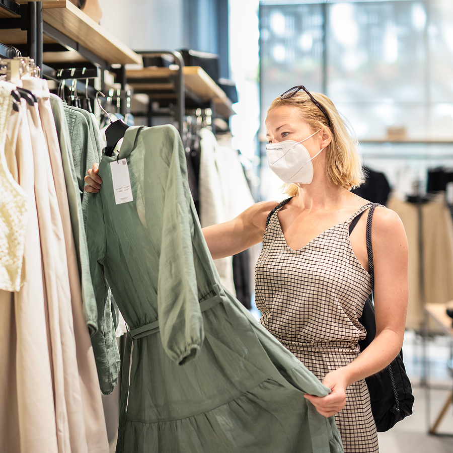 Fashionable woman inside a clothing store in Willows